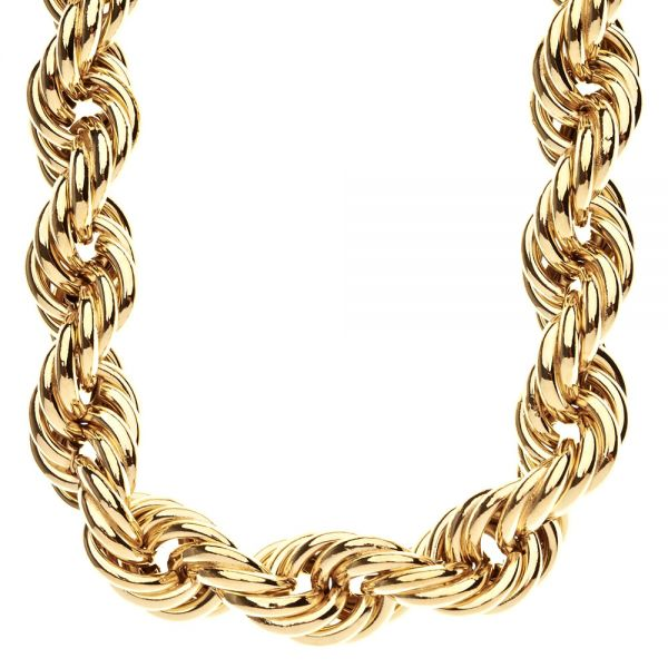 Heavy Solid Rope DMC Style Hip Hop Chain - 20mm gold