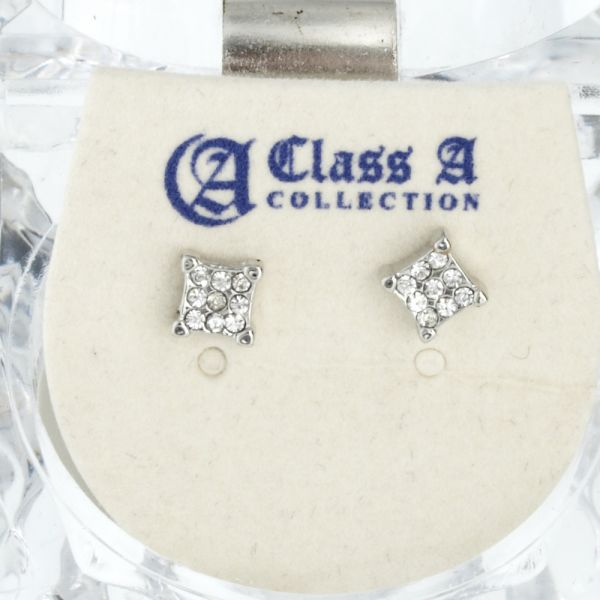 Iced Out Bling Ohrstecker Box - SQUARE 5mm
