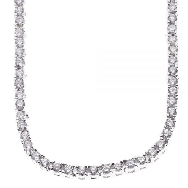 Iced Out Bling Zircoania TENNIS Chain - 4mm silver