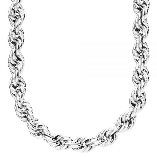 Heavy Rope Twisted Chain - 10mm silver