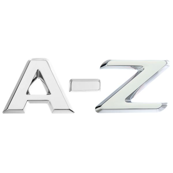 Luxbling Auto Chrom 3D Buchstabe - silber A-Z