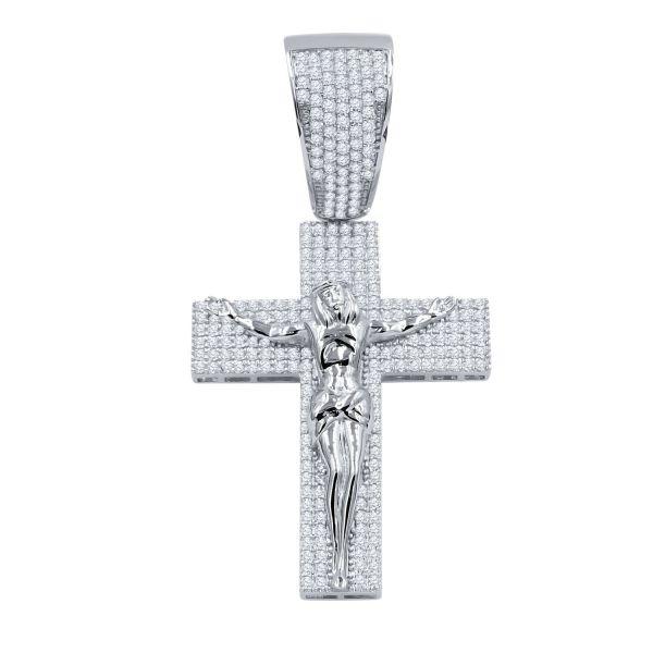 925 Sterling Silver Micro Pave Pendant - WISPY JESUS