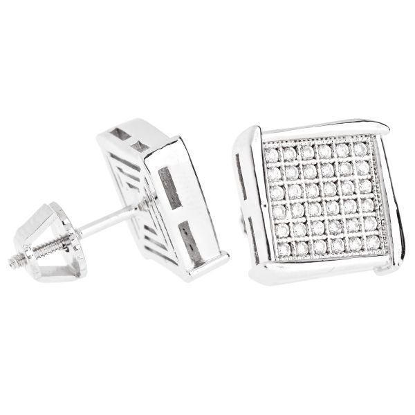 Iced Out Bling Micro Pave Ohrstecker - NOOK 10mm