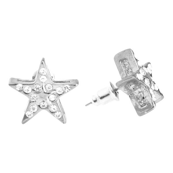 Iced Out Bling Hip Hop Ohrstecker - SUPER STAR 12mm