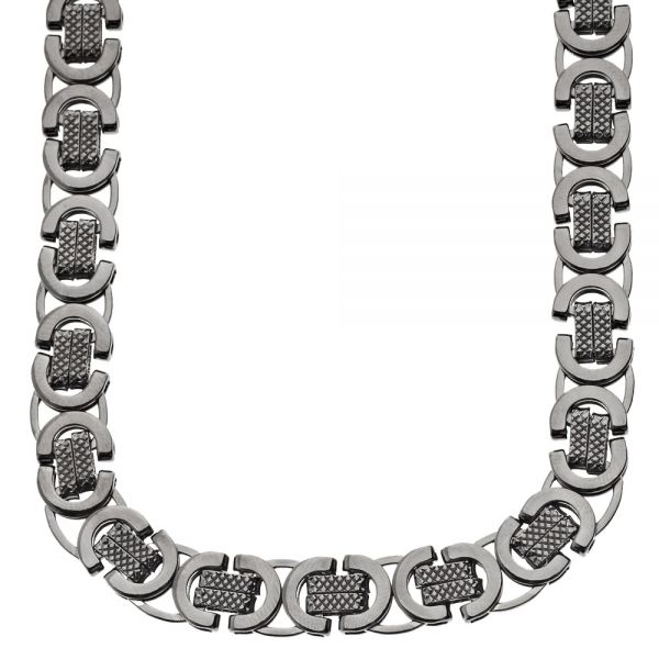 Iced Out Massiv Hip Hop Kette - BYZANTINE 10mm schwarz