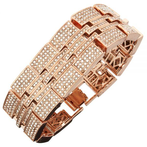 Iced Out Bling Hip Hop Bracelet Armband - MILLIONAIRE rose