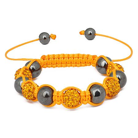 Iced Out Unisex Armband - Beads topaz