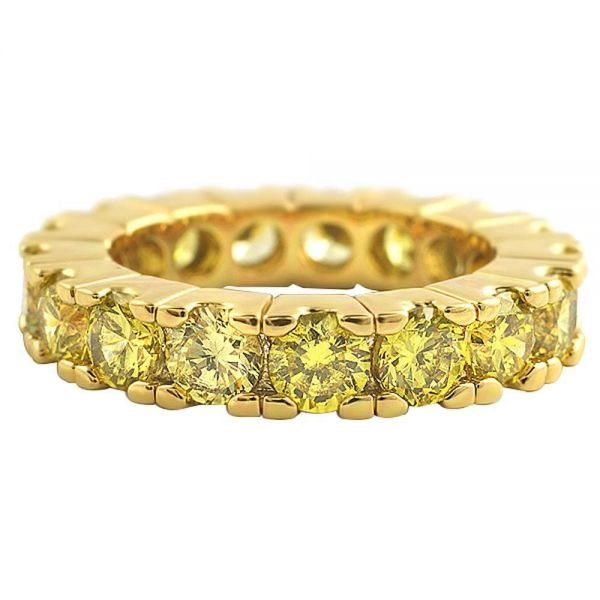 Iced Out Bling Micro Pave Ring - ETERNITY canary gold