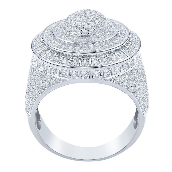 Sterling 925er Silber Micro Pave Ring - DAZZLE gold