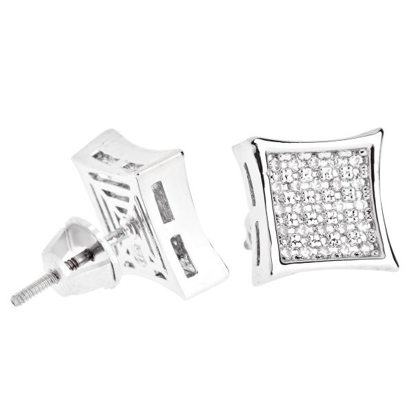 Iced Out Bling Micro Pave Ohrstecker - K-KITE 10mm