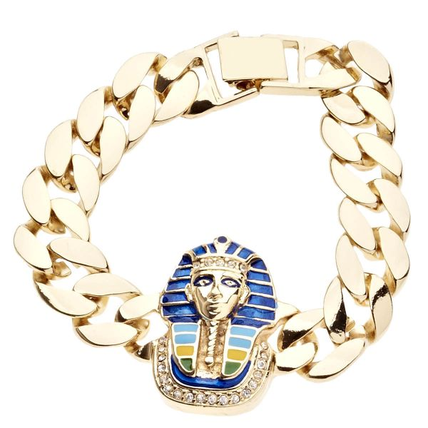 Iced Out Bling Hip Hop Armband - PHARAOH gold