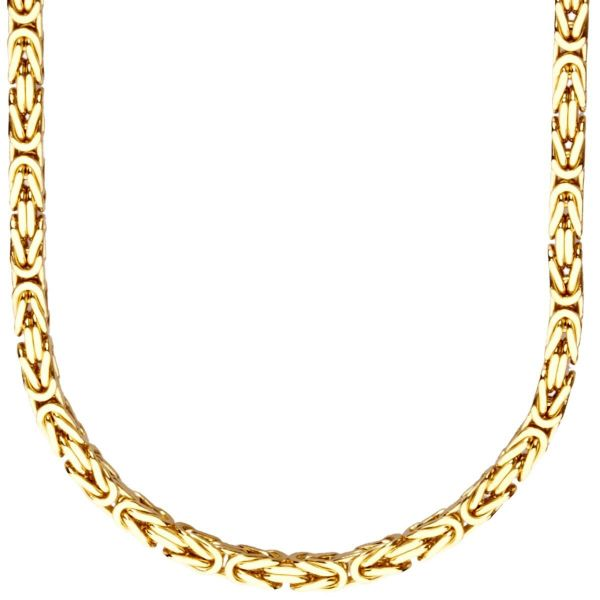 Iced Out Edelstahl BYZANTIN Kette - 4mm gold