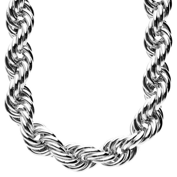 Heavy Rope DMC Style Hip Hop Kordelkette - 16mm silber
