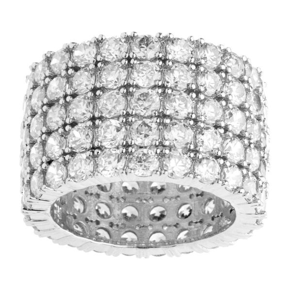 Iced Out Bling Micro Pave Ring - FAT 360 ETERNITY black