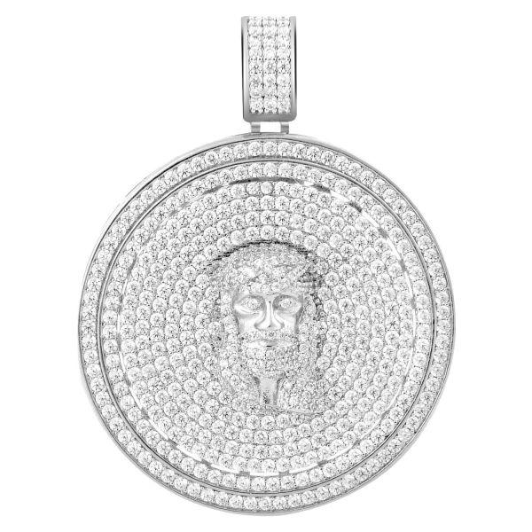 925 Sterling Silber Micro Pave Anhänger - CELESTIAL JESUS