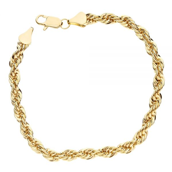 Bling Kordelkette Armband - ROPE Chain 6mm gold
