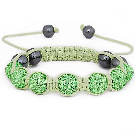 Iced Out Unisex Armband - Beads lime green
