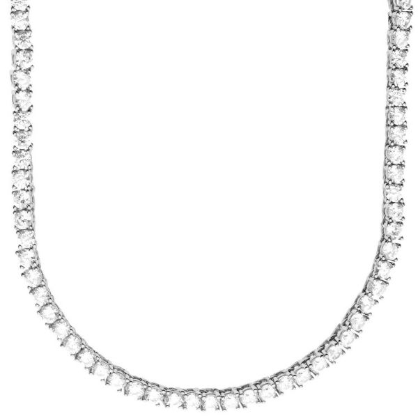 Premium Bling - Sterling 925 Silver CZ Necklace - 3mm