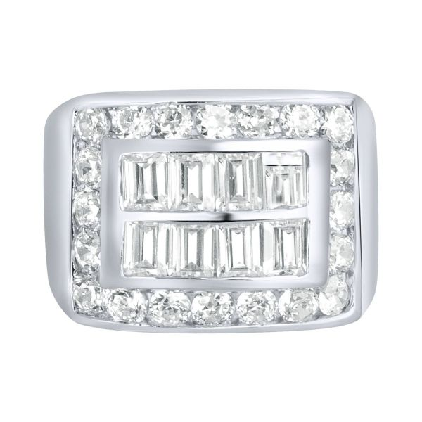 Sterling 925er Silber Pave Ring - KING BLING