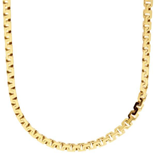 925 Sterling Silver Venetian Chain - COBRA BOX 3.5mm gold