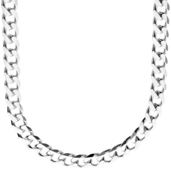 925 Sterling Silver Bling Chain - CURB 7.4mm