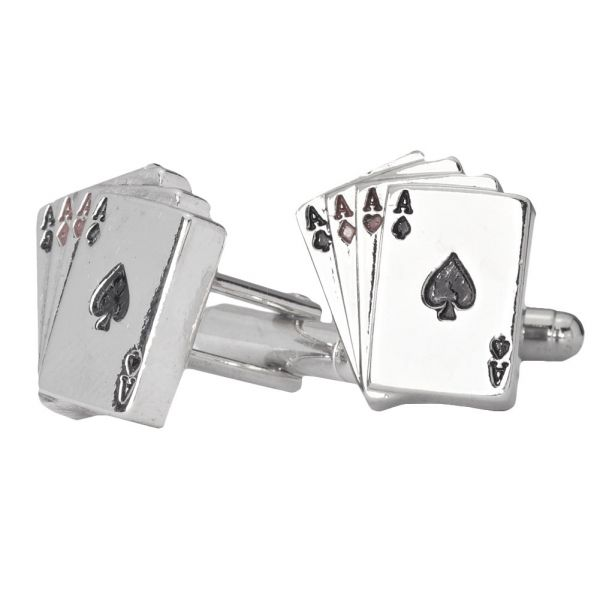Iced Out Hip Hip Cuff Links - Aces Bling