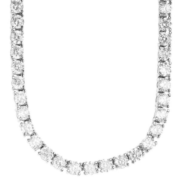Iced Out Bling CZ STONE 8mm ROW Edelstahl Kette - 60cm