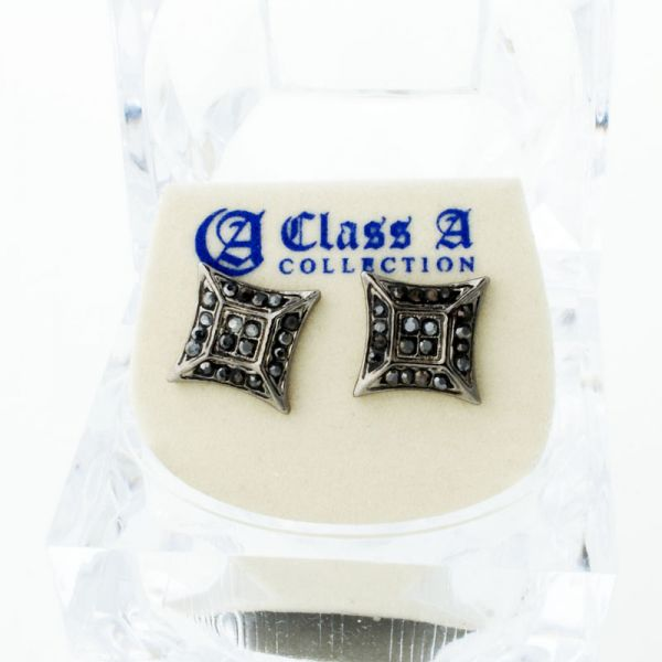 Black Bling Iced Out Ohrstecker - ULTRA 10mm
