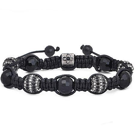 Unisex Bling Armband - Beads Zebra
