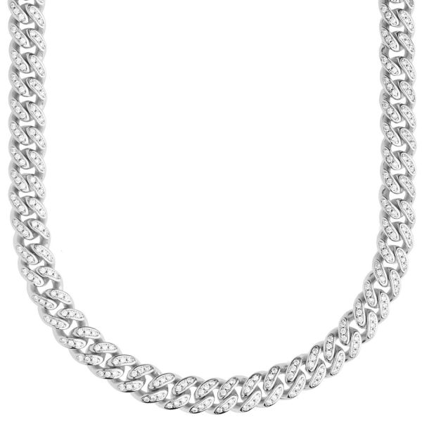 Premium Bling Sterling 925er Silber Miami Cuban Chain 6,5mm