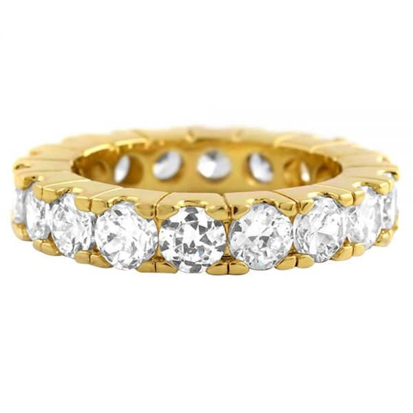 Iced Out Bling Micro Pave Ring - ETERNITY gold
