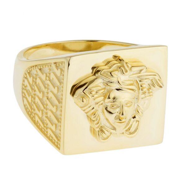 Premium Bling - Sterling 925er Silber Ring - MEDUSA gold