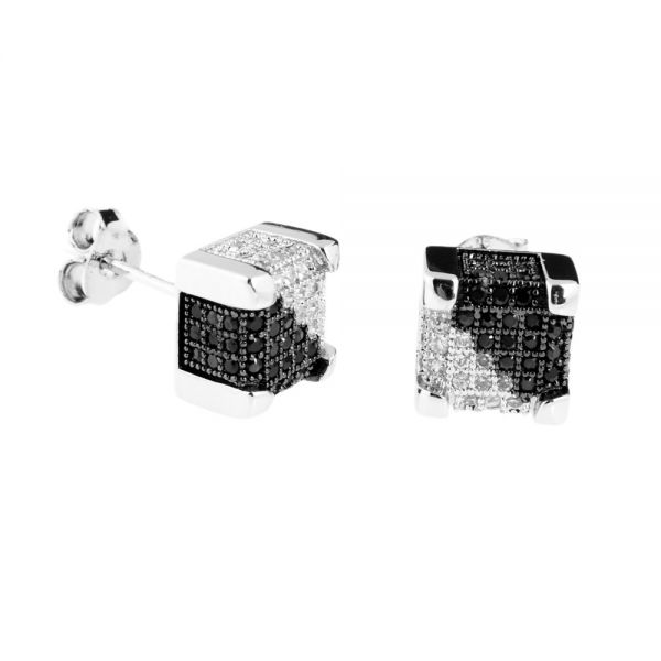 925er Silber MICRO PAVE Ohrstecker - IMPERIAL 9mm split
