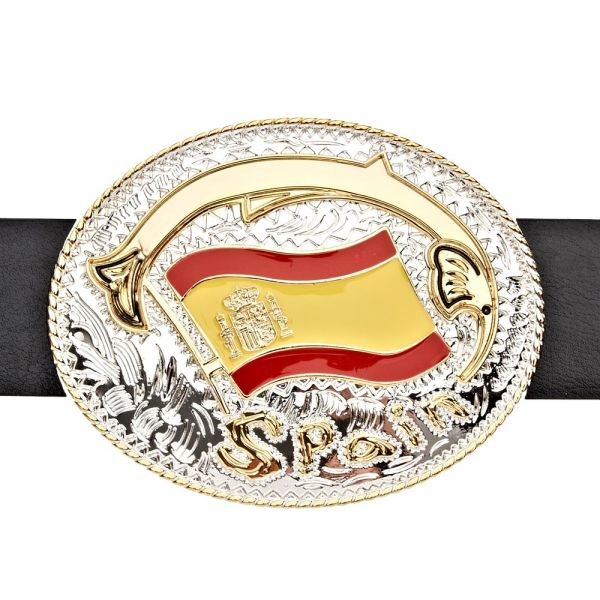 Iced Out Bling Gürtel - SPAIN ESPAÑA gold / silber