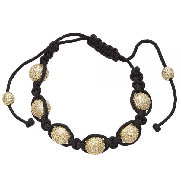 Micro Pave Beads BALL Armband - gold