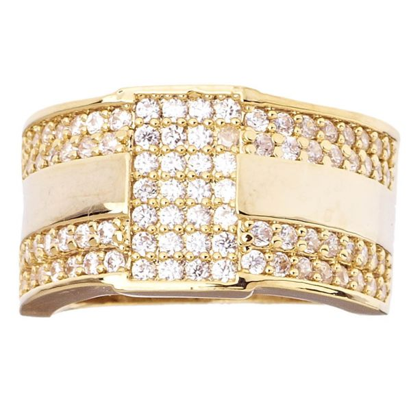 Iced Out Bling Hip Hop Designer Ring - NYC 15mm gold