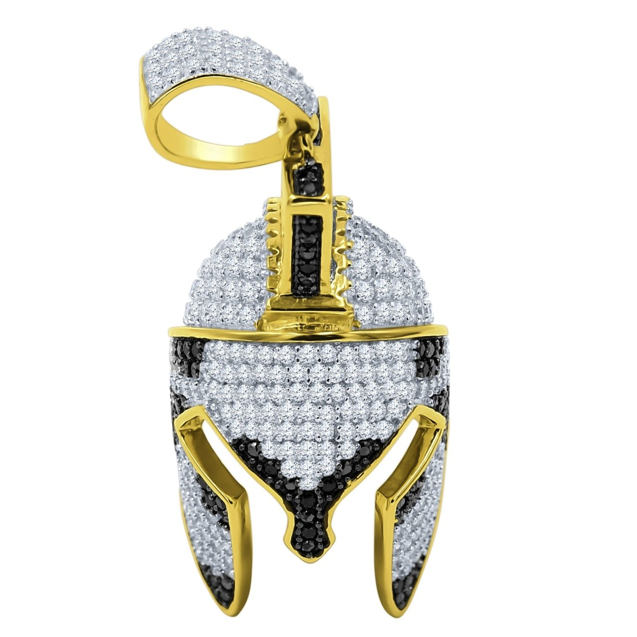 925 Sterling Silver Micro Pave Pendant FOOTBALL