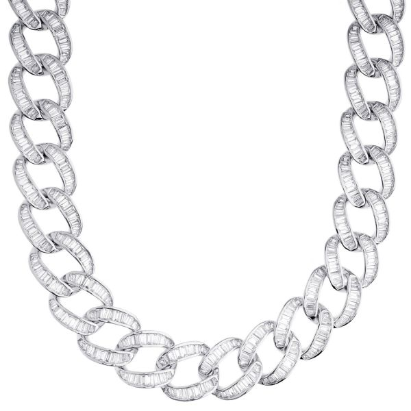 Iced Out Bling Zirconia Chain - Miami Cuban 15mm rose gold