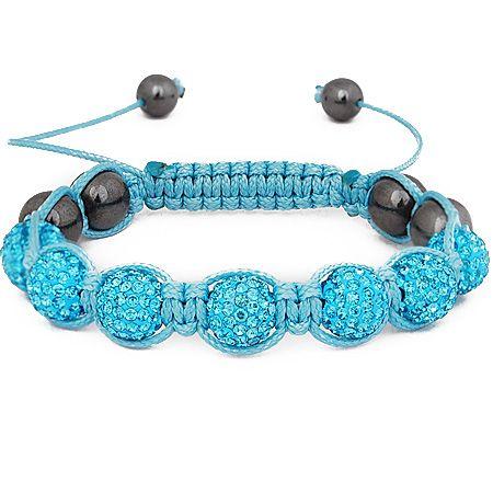 Iced Out Unisex Armband - Beads aqua