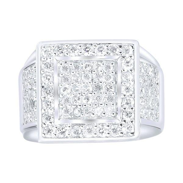 Sterling 925er Silber Pave Ring - PRO