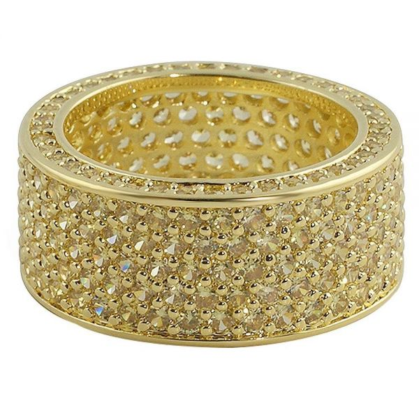 Iced Out Bling Micro Pave Ring - 360 ETERNITY gold