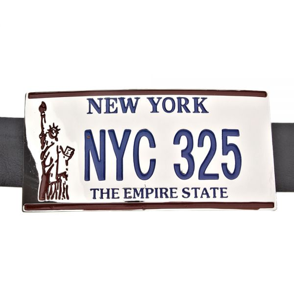 New York NYC License Plate Gürtel