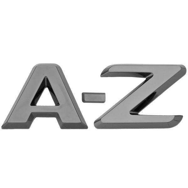 Luxbling Auto Chrom 3D Buchstabe - schwarz A-Z