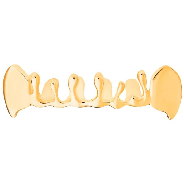 One size fits all Top Grillz - Vampire Bling Drip gold