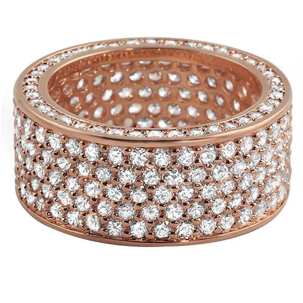 Iced Out Bling Micro Pave Ring - 360 ETERNITY rose gold