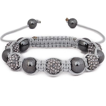 Iced Out Unisex Armband - STRONG Beads grey