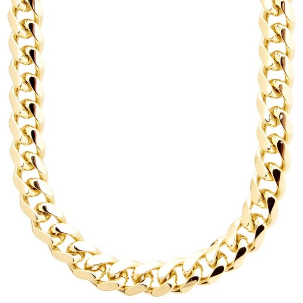 Iced Out Bling MIAMI CUBAN CURB CHAIN - 10mm gold