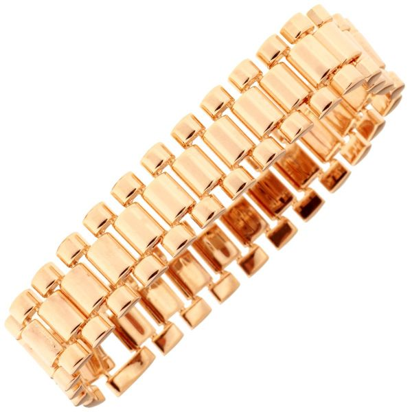 Iced Out Hip Hop Bling Armband - LINK 15mm rose gold