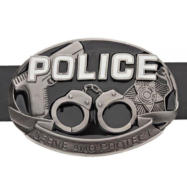 Iced Out Bling Gürtel - Hip Hop Police