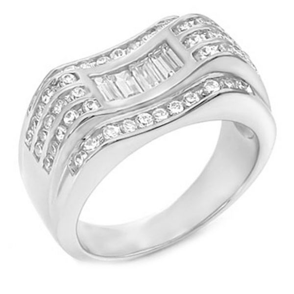 Sterling 925er Silber Pave Ring - SWING